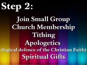 12. Intentional Discipleship 3 - Step 2