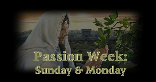 Passion Week - Sunday Monday