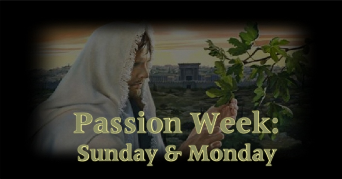 Passion Week - Sunday Monday